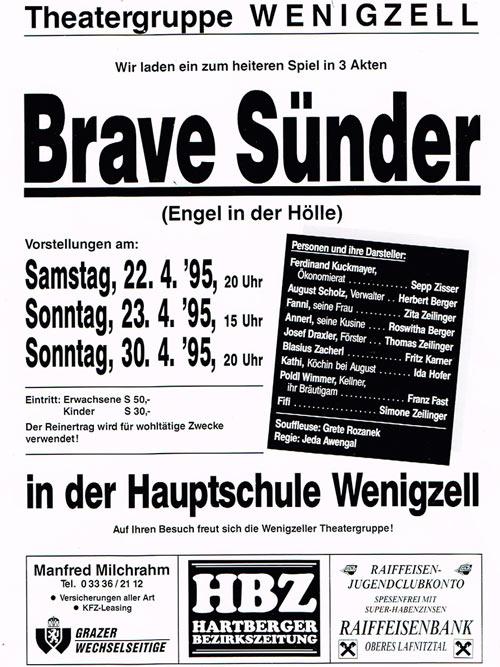 Brave Sünder_1995_Plakat
