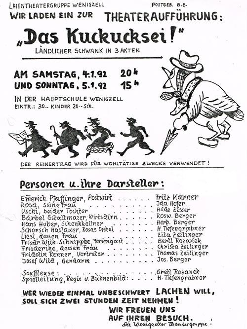 Das Kuckucksei_1992_Plakat