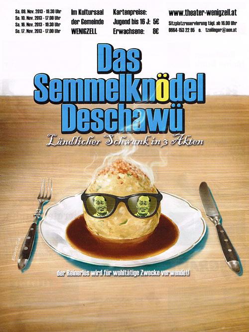 Das-Semmelknödel-Deschawue-2013-Plakat