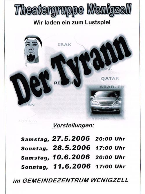 Der Tyrann_2006_Plakat