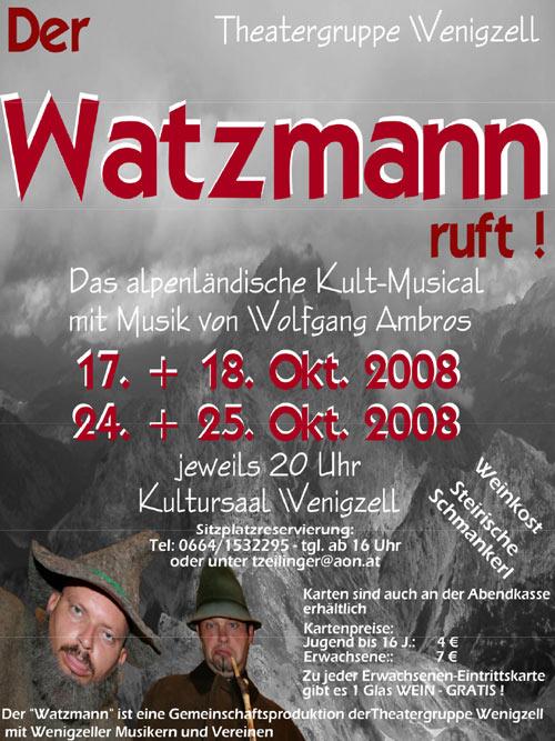 Der Watzmann ruft_2008-2009_Plakat