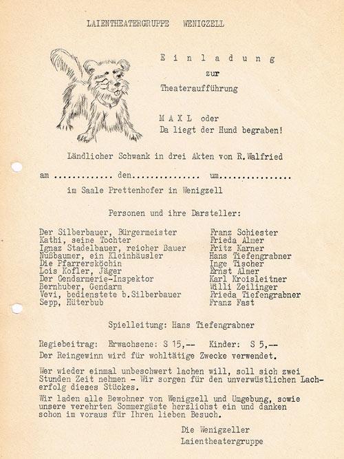 Maxl da liegt der Hund begraben_1966_Plakat